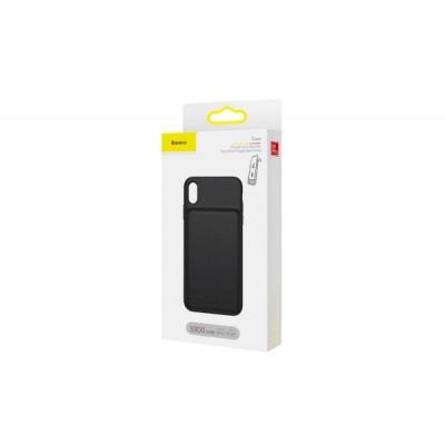 BASEUS LIQUID BACK CLAMP AKKUMULÁTOROS HÁTLAP (IPHONE X / XS) FEKETE