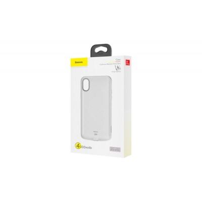 BASEUS LIQUID BACK CLAMP AKKUMULÁTOROS HÁTLAP (IPHONE X / XS) FEHÉR