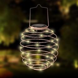 Mini led lampion solar pink