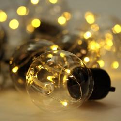 10 darabos party gömb fényfüzér