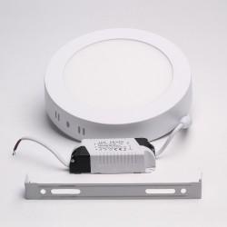 BrightSolutions 12W 3000K külső szerelésű kerek LED panel 960LM