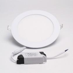 BrightSolutions 12W 3000K süllyeszthető kerek LED panel 960LM