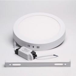 BrightSolutions 18W 3000K külső szerelésű kerek LED panel 1440LM
