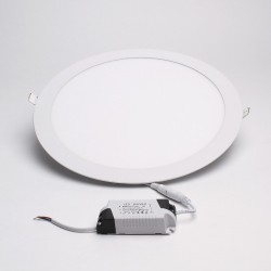 BrightSolutions 24W 3000K süllyeszthető kerek LED panel 1920LM